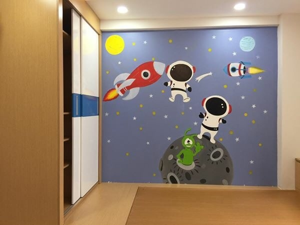 Vẽ tranh tường 3D Phòng Bé