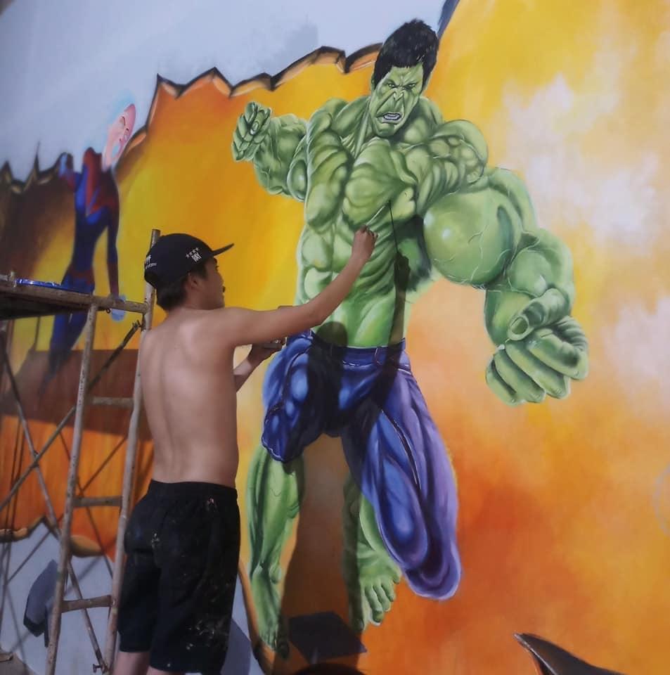 Vẽ tranh tường 3D Phòng GYM