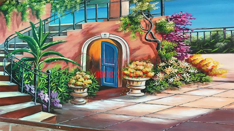 Vẽ tranh tường nhà hàng LEYNA tại Bình Thuận