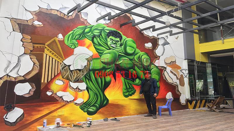 Vẽ tranh tường  phòng Gym