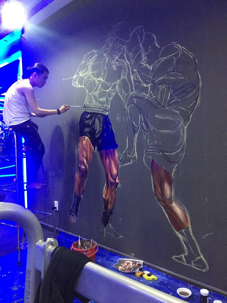 Công trình Vẽ tranh 3D GYM ARES