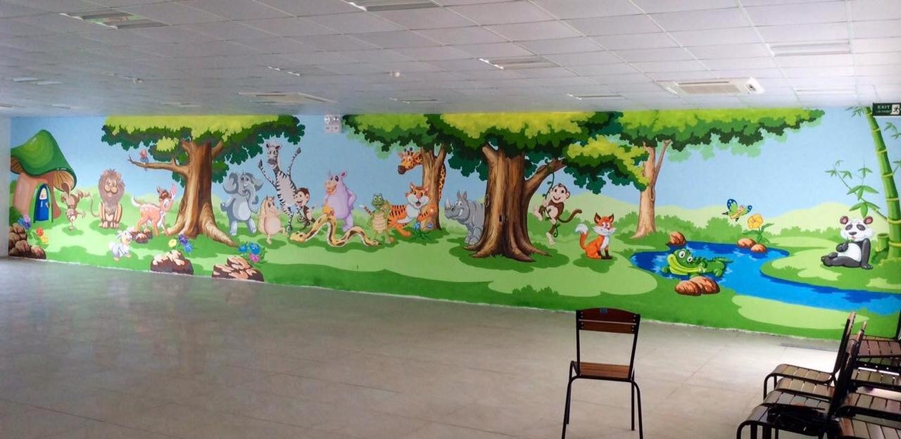 Công trình Vẽ tranh tường mầm non tại TP HCM