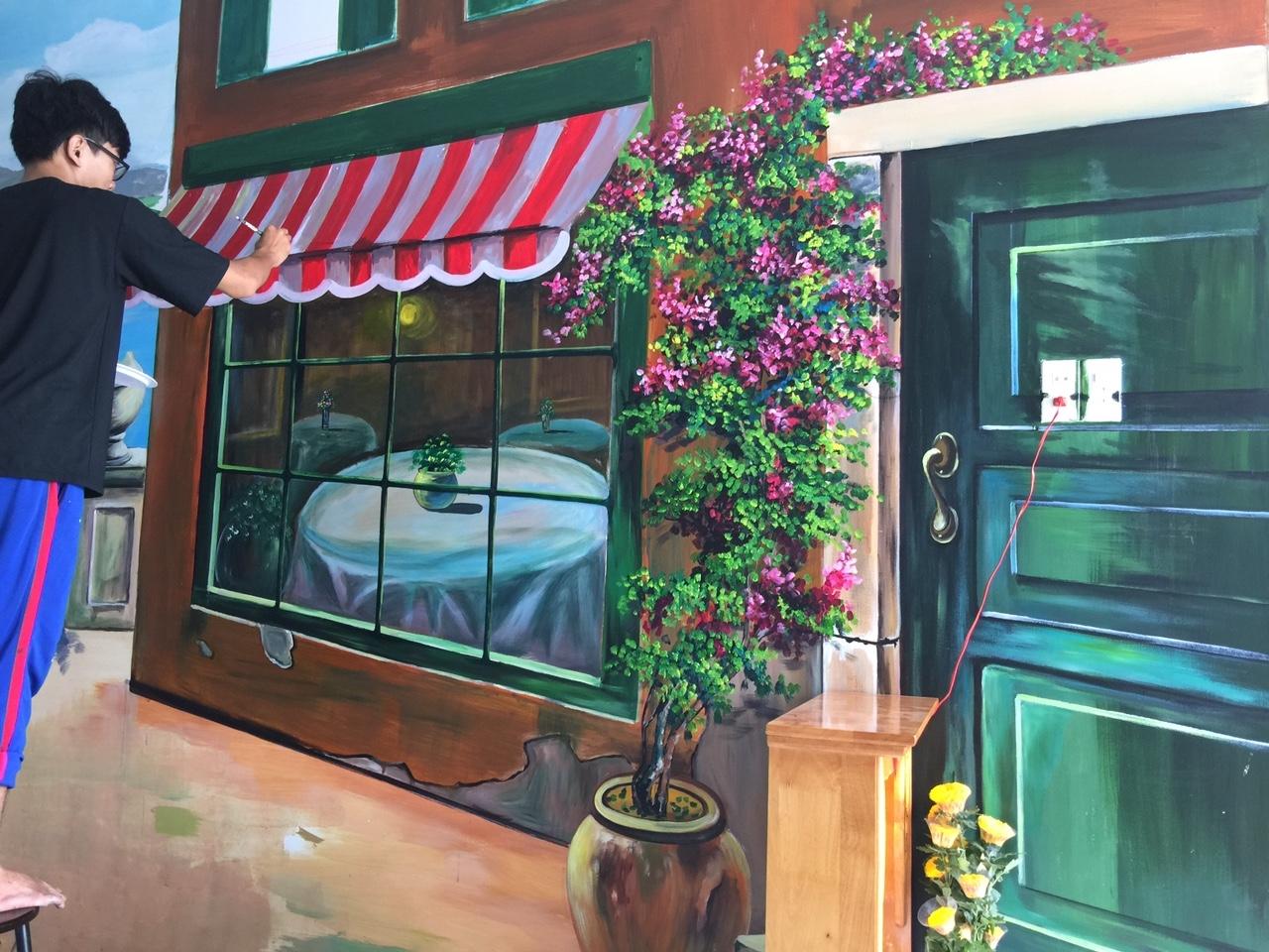 Công trình Vẽ tranh tường trà sữa KOCOCHA TP Phan Thiết
