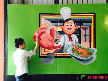 Vẽ tranh tường 3D Nhà Bếp