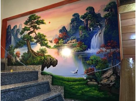 Vẽ tranh tường 3D Cầu Thang