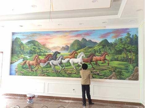 Vẽ tranh tường Phòng Khách