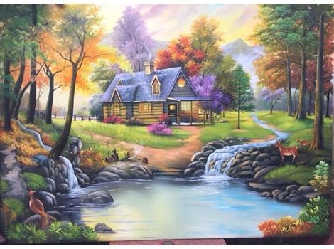 Vẽ tranh tường trang trí Quán Cafe, Quán Ăn, Quán Bar, Cửa Hàng, Shop